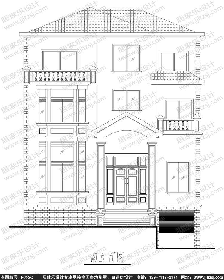 农村豪华三层小别墅设计图,12.2x13.3米,18-24万