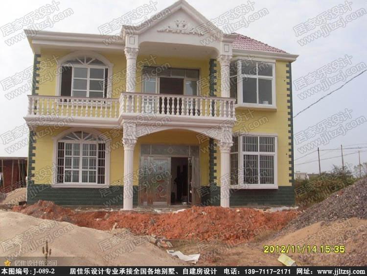 新农村自建房二层别墅设计图纸(带露台阳台) -居佳乐