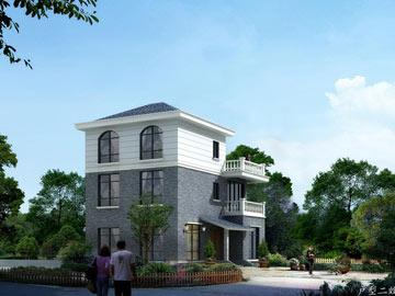 新农村自建房三层房屋设计图纸(带露台阳台)