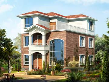 125平方米二层欧式小别墅设计图