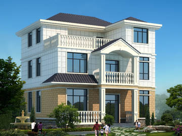 112平方米農村三層小別墅設計圖-10.5x11.