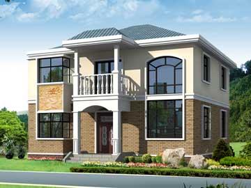 180平米二层小别墅设计图,10.24x10.54米,11-14.5万